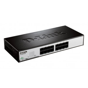 Switch UnManaged - D-Link 16 porte 10/100Mbps - Metallo & Rackable