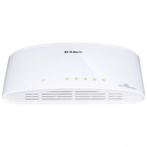 Switch UnManaged - D-Link 5 porte 10/100/1000Mbps - Plastica