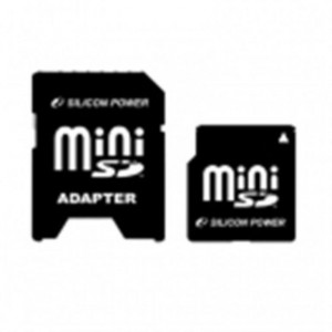 Silicon Power - Card Memoria mini SECURE DIGITAL - 2GB - consegnato con un Adattatore formato SD