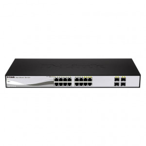 Switch Web Managed - D-Link Smart 16 porte 10/100/1000Mbps di cui 4 porte Combo 1000BaseT/SFP
