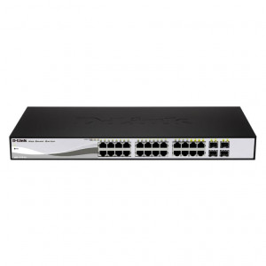 Switch Web Managed - D-Link Smart 24 porte 10/100/1000Mbps di cui 4 porte Combo 1000BaseT/SFP