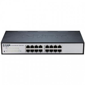 Switch Web Managed - D-Link Easy Smart 16 porte 10/100/1000Mbps FanLess