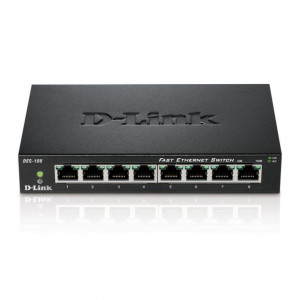 Switch UnManaged -  D-Link 8 porte 10/100Mbps - Metallo