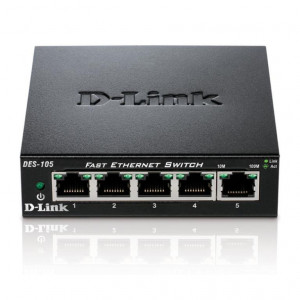 Switch UnManaged - D-Link 5 porte 10/100/1000Mbps - Metallo