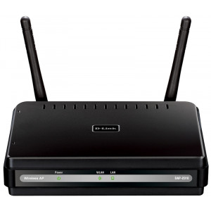 Access Point Wireless - D-Link N 300Mbps - 802.11 b/g/n - 1 porta Gigabit - 4 modes de fonctionnement  - WPS - box in plastica