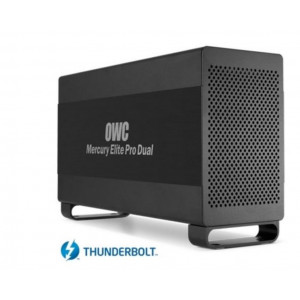 OWC Elite Pro Dual - 6TB (2x3TB) - RAID0.1 - interfaccia Thunderbolt e USB3 - assemblato da SQP - sistema di back up Pro Mac/PC