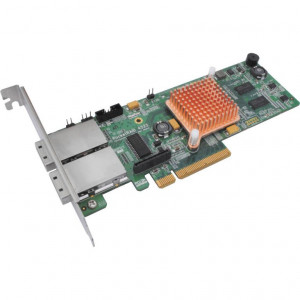 Highpoint RocketRAID 4522 - Controller card 8 porte esterne SAS/SATA 6 Gb/s - 2x SFF-8088 (mini-SAS) - Raid 0,1,5,10,JBOD - PCI-Express 2.0 8x - Low Profile - Mac/Win/Linux/FreeBSD