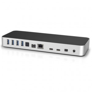Dock Thunderbolt 3 /USB3.1/FW800/HDMI/GbE/mD/SD/Audio - 13 porte - Colore argento