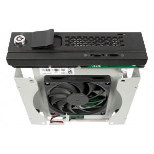 """IcyDock TurboSwap MB171SP-B - Tray-Less 3.5"""" SATA HDD Mobile Rack with 80mm Cooling Fan for External 5.25"""" Bay"""