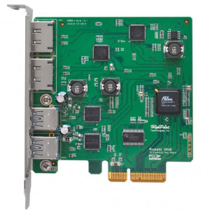 Highpoint RocketU 1144E - Card PCI 2 x USB 3.0 et 2 x eSATA 6Gb/s esterne - PCI-Express 2.0 x4 - Mac/Win/Linux/FreeBSD