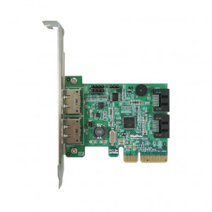 Highpoint RocketRAID 642L - Controller card 2 porte esterne eSATA et 2 porte esterne SATA - Raid 0,1,5,10,JBOD - PCI-Express 2.0 x4 - Mac/Windows/Linux/FreeBSD