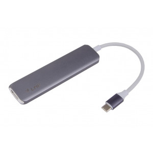 LMP Hub USB-C con 1x HDMI, 2x USB 3.0, 1x USB-C for Power Delivery - colore space gray
