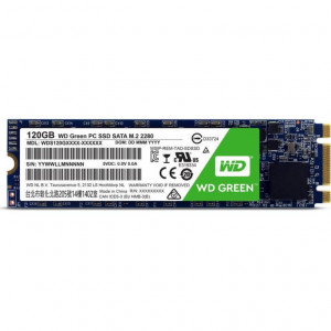 SSD WD M.2 2280 - capacità 120GB - 540/430MBps - SATA 6Gbps - Western Digital Green PC SSD