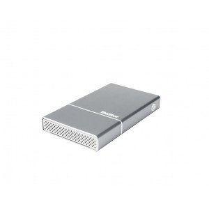 "Box BeStor per HDD 2,5"" SATA (spessore max 12,5mm) - interfaccia USB3.0  - Incluso cavo USB3.0 - Case in alluminio Space grey"