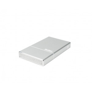 "Box BeStor per HDD 2,5"" SATA (spessore max 12,5mm) - Interfaccia USB3.0  - Incluso cavo USB3.0 - box in alluminio silver"
