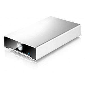 "AKiTiO box Neutrino U3 per HDD/SSD 2,5"" SATA (altezza massima 12.5mm) - Interfaccia: 1x Mini USB 3.0 SuperSpeed port (backwards compatible with USB 2.0)"