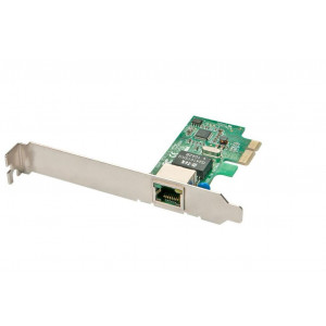 Scheda di rete gigabit pcie base-t con staffe standard e low profile - 1 porta rj-45 - staffe per slot standard e low profile incluse