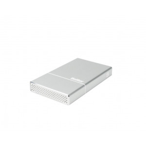 "Box BeStor per HDD 2,5"" SATA (spessore max 15mm) - Interfaccia USB3.0 - Incluso cavo USB3.0 - box in alluminio silver"
