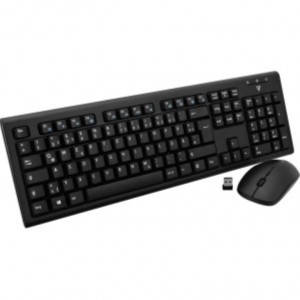 Tastiera e mouse con cavo USB - ITA - (Qwerty / Mouse Ottico 1600 dpi - 3 Pulsanti - Scroll Wheel) - Nero