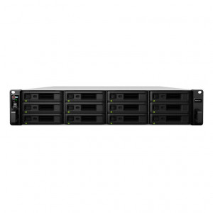 NAS Synology Rack (2U) RS3617xs+ 96TB (12 x 8TB) RED Pro - Consegnato senza rail kit