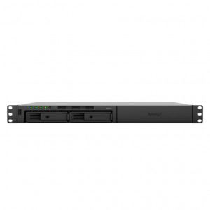 NAS Synology Rack (1U) RS217 20TB (2 x 10 TB) HDD Ironwolf - Non necessita di rail kit per il montaggio a rack