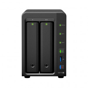 "NAS Synology Tower SY-DS718+ (Senza HDD) - Supporta 2xHDD/SSD 3,5""/2,5"" SATA 6Gb/s - 2GB DDR3L (2GBx1) - MAX 6GB"