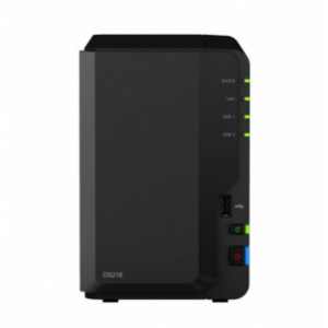 NAS Synology Tower DS218 20TB (2 x 10 TB) HDD RED Pro