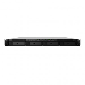 NAS Synology Rack (1U) RS818+ (Senza HDD) - Supporta 4xHDD/SSD SATA 6Gb/s - Consegnato senza rail kit