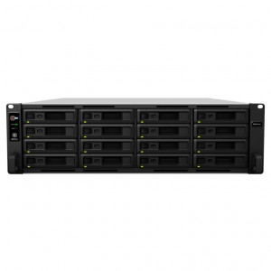 NAS Synology Rack (2U) SY-RS2818RP+ 64TB (16 x 4 TB) assemblato con HDD WD Red Pro NAS - consegnato senza rail kit