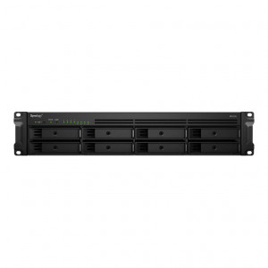 NAS Synology Rack (2U) RS1219+ 64TB (8x8TB) assemblato con HDD Enterprise - consegnato senza rail kit