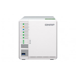 NAS QNAP Tower TS-332X-2G 18TB (3x6TB) assemblato con HDD WD Red