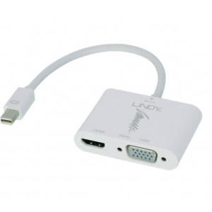 Adattatore attivo mini displayport 1.2 a hdmi 4k e vga - connettori: mini-dp maschio a hdmi e vga femmina