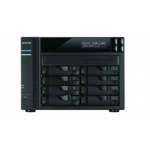 "Nas Tower Asustor AS-6208T - 8 bay per HDD SATA 2,5"" / 3,5"" o SSD - Processore 1.6GHz Quad Core burst up to 2.24 GHz - 1 GB di ram"