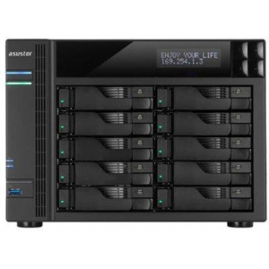 "Nas Tower Asustor AS-6210T - 10 bay per HDD SATA 2,5"" / 3,5"" o SSD - Processore 1.6GHz Quad Core burst up to 2.24 GHz - 1 GB di ram"