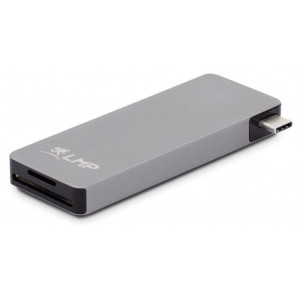 LMP USB-C Basic Hub 6 porte - 3xUSB 3.0 (1x1.5A Power Output for charging smartphones and tablets), SD/microSD, USB-C (PD 3.0) - Space gray