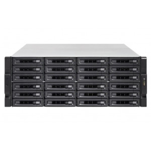 NAS assemblato QNAP Rack (4U) TS-2483XU-RP-16G 96TB (24x4TB) con HDD Seagate IronWolf Pro NAS  con HDD WD Red PRO NAS - consegnato senza rail kit