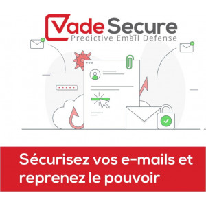 Licenza Vade Secure Cloud - Email Security Premium - 1 anno/1 account mail - tariffa tra 301 e 1000 accounts mail
