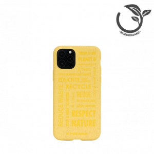 Cover Tucano ECOVER in bio plastica semirigida per iPhone 11 Pro - colore giallo