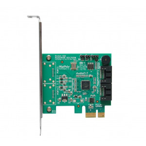 Highpoint RocketRAID 620 - Controller card 2 porte interne  SATA - Raid 0,1,5,10,JBOD - PCI-Express  2.0 8x - Low profil - Mac/Win/Linux/FreeBSD