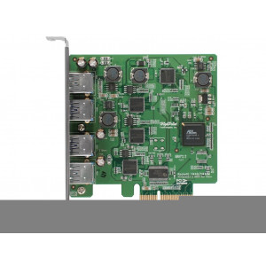 Highpoint RocketU 1144D - Card PCI 4 x USB 3.0 esterne - PCI-Express 2.0 x1 - Mac/Win/Linux/FreeBSD