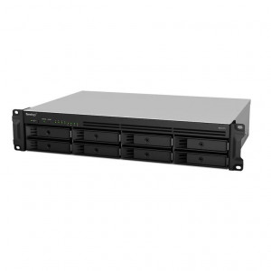 NAS Synology Rack (2U) RS1219+ (senza HDD) - Supporta 8 x HDD/SSD SAS/SATA 6Gb/s - Consegnato senza rail kit