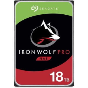 "Hard disk 3,5"" 18TB - 7200rpm - SATA 6Gbps - 256MB - Seagate IronWolf Pro - Dispo Q4/2020"