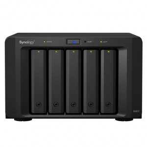NAS Synology Tower DX517 50TB (5 x 10 TB) assemblato con HDD RED