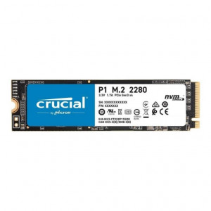 SSD Crucial NVMe 500GB - 1900/950MBps - PCIe Gen 3 - Serie P1