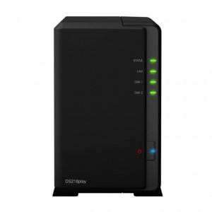 "NAS Synology Tower DS218PLAY (Senza HDD) - Supporta 2xHDD/SSD 3,5""/2,5"" SATA 6Gb/s"