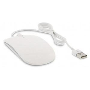 LMP Easy Mouse USB, 2 boutons & scroll, optique 1600 dpi, blanche